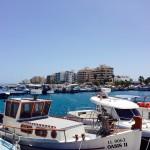 Psarolimano fishing shelter near mackenzie suimming beaches of Larnaca